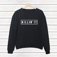 Cotton Women Sweatshirts printed letter Sold By PC