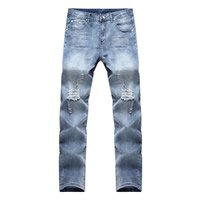 Denim Men Jeans frayed Solid Sold By PC