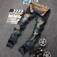 Denim Men Jeans frayed blue