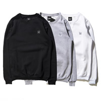 Cotton Men Sweatshirts embroidered geometric