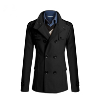 Acrylic Men Coat Solid Sold By PC