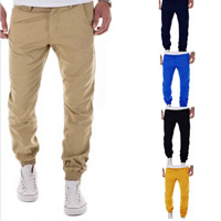 Polyester & Cotton Men Pencil Pants, different size for choice, Solid, more colors for choice, Sold By PC