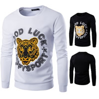 Polyester & Cotton Men Sweatshirts, different size for choice, embroidered, animal prints, more colors for choice, Sold By PC