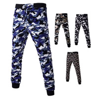 Polyester   Cotton Men Casual Pants printed camouflage