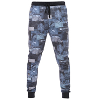 Polyester & Cotton Men Casual Pants, different size for choice, printed, geometric, Sold By PC