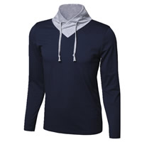 Cotton Men Long Sleeve T-shirt, different size for choice, patchwork, more colors for choice, Sold By PC