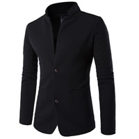 Cotton Plus Size Men Leisure Suit patchwork black