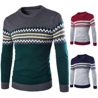 Cotton Men Sweater, different size for choice, geometric, more colors for choice, Sold By PC