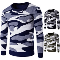 Cotton Men Sweater knitted camouflage Sold By PC