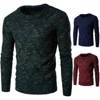 Polyester & Cotton Men Sweater, different size for choice & thermal, knitted, geometric, more colors for choice, Sold By PC