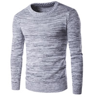 Cotton Men Sweater knitted Solid grey Sold By PC