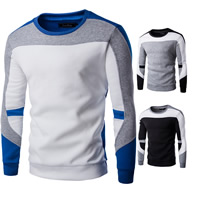 Polyester & Cotton Men Sweatshirts patchwork Sold By PC