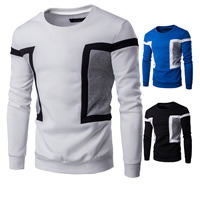 Polyester & Cotton Men Sweatshirts thermal patchwork Sold By PC