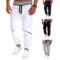 Polyester & Cotton Men Sports Pants, different size for choice & loose, patchwork, more colors for choice, Sold By PC