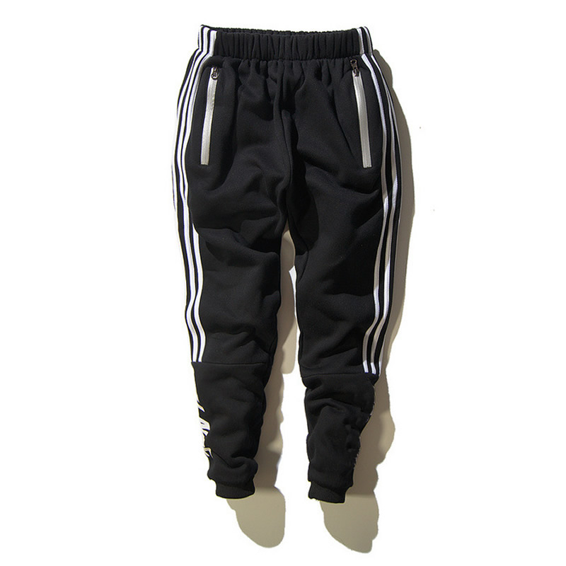 Cotton Men Sports Pants printed letter black Sold By PC