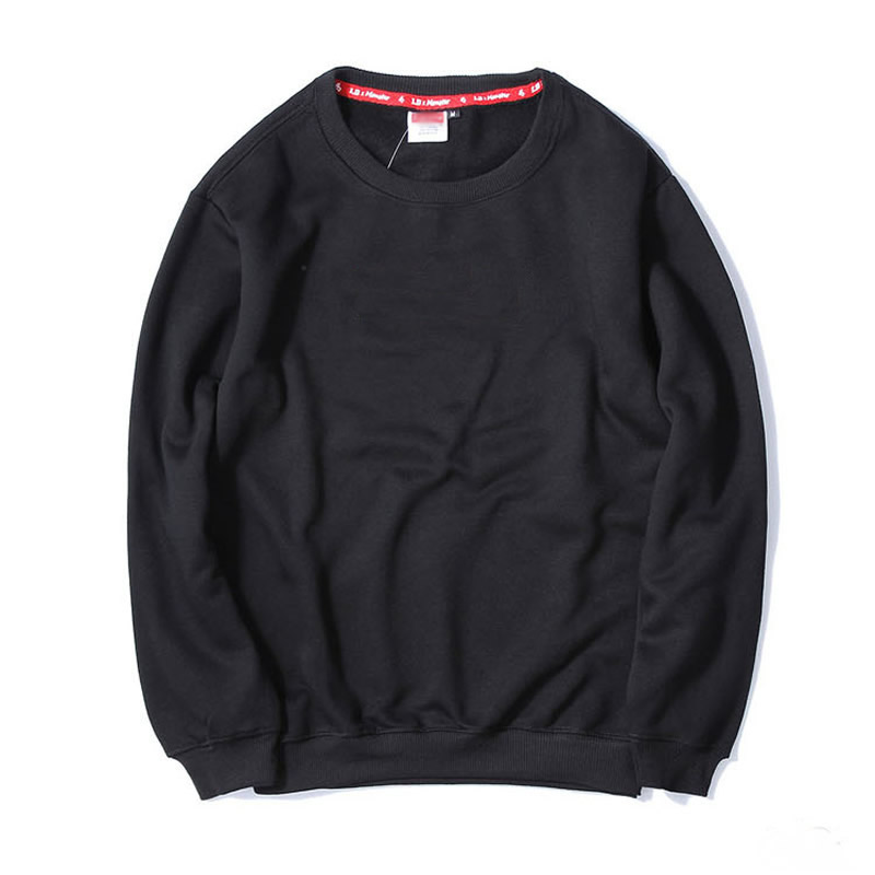 Cotton Men Sweatshirts more thicker and more wool   loose printed letter