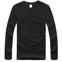 Cotton Men Long Sleeve T-shirt, different size for choice, printed, letter, more colors for choice, Sold By PC