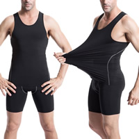 Spandex   Polyester Men Quick Dry Tops Solid