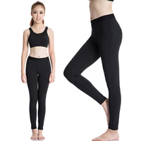 Spandex & Polyester Women Yoga Pants, different size for choice, Solid, more colors for choice, Sold By PC