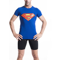 Spandex   Polyester Men Quick Dry Tops printed different color and pattern for choice