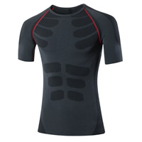 Nylon & Spandex & Polyester Men Quick Dry Tops, different size for choice, patchwork, more colors for choice, Sold By PC