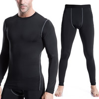 Spandex   Polyester Men Quick Dry Clothing Set Pants   top patchwork