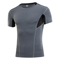 Spandex & Polyester Men Quick Dry Tops, different size for choice, patchwork, more colors for choice, Sold By PC