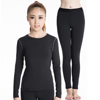 Spandex   Polyester Women Quick Dry Clothes Set Pants   top Solid