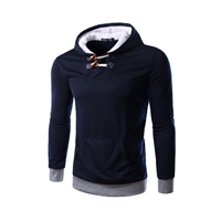 Polyester & Cotton Men Sweatshirts, different size for choice, patchwork, more colors for choice, Sold By PC