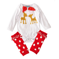 Polyester   Cotton Unisex Children Clothing printed red and white