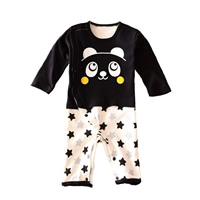 Cotton Baby Jumpers printed Cartoon white and black