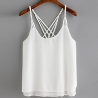 Chiffon Sleeveless Nightclub Top backless Solid white Size:Free Size Sold By PC