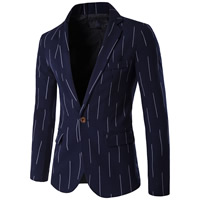 Polyester & Cotton Plus Size Men Leisure Suit, different size for choice, geometric, deep blue, Sold By PC
