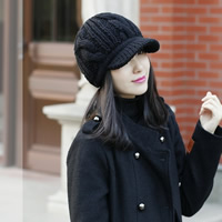 Woolen Flatcap, knitted, Solid, more colors for choice, Size:56-58cm, Sold By PC
