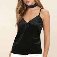 Velour Sleeveless Nightclub Top, backless & hollow, Solid, more colors for choice, Size:Free Size, Sold By PC