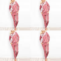 Polyester Women Casual Set, different size for choice, Pants & top, Solid, more colors for choice, Sold By PC