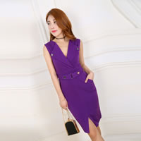 Polyester Women Business Dress Suit Solid Sold By PC