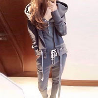 Polyester Women Casual Set, different size for choice & three piece, tank top & Pants & coat, Solid, grey, Sold By Set