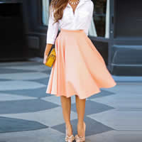 Polyester Pleated Skirt Solid Sold By PC