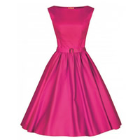 Polyester & Cotton Princess One-piece Dress with belt Solid Sold By PC