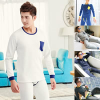 Spandex & Cotton Men Thermal Underwear Sets more thicker and more wool patchwork Sold By Set