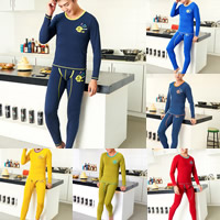 Cotton Men Thermal Underwear Sets printed geometric Sold By Set
