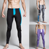 Nylon & Cotton Men Leggings, different size for choice & breathable, patchwork, more colors for choice, Sold By PC