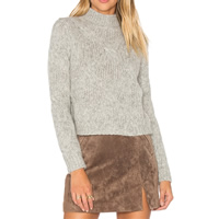 Acrylic Women Sweater Solid grey Size:Free Size