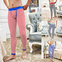 Cotton Men Thermal Long Johns breathable printed striped Sold By PC