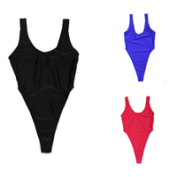 Nylon & Polyester One-piece Swimsuit, different size for choice, Solid, more colors for choice, Sold By PC