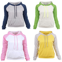 Polyester & Cotton Women Sweatshirts patchwork Sold By PC