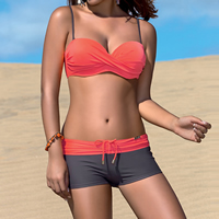 Polyester Bikini, different size for choice, patchwork, more colors for choice, Sold By Set