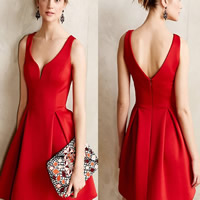Line & Cotton Ball Gown One-piece Dress backless & different styles for choice plain dyed Solid Sold By PC