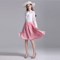 Chiffon Skirt knee-length Solid Size:Free Size Sold By PC